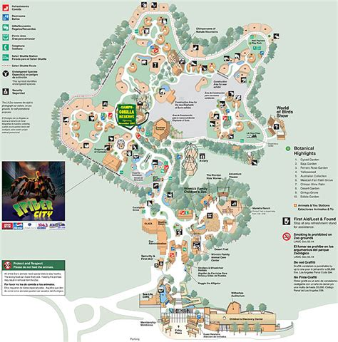 map of los angeles zoo swartzentrover photos hiking california