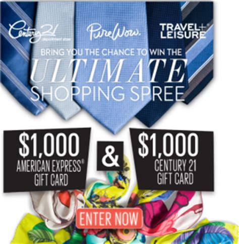Department Store Sweepstakes - pure wow ultimate shopping spree sweepstakes win a 1 000 american express gift card
