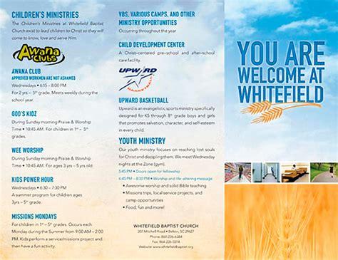 church brochure templates 15 cool church brochures printaholic