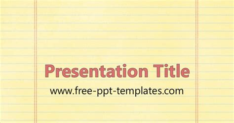 Notebook Paper Ppt Template Notebook Paper Powerpoint Template