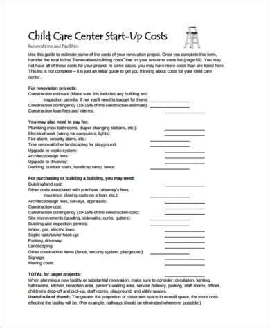 child care budget template sle budget form sle budget form personal budget