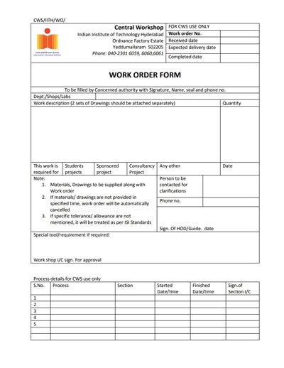 production order form template work order template free create edit fill and