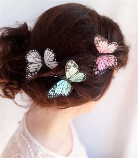 Wedding Hair Accessories Butterfly by Pastel Wedding Hair Pin Butterflies 2228572 Weddbook