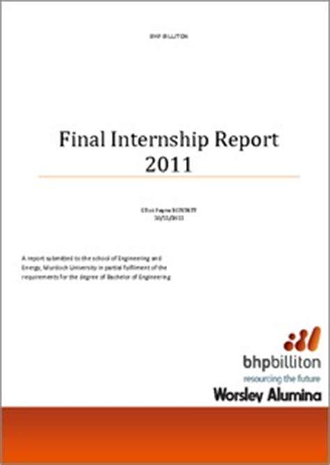 bhp billiton internship report 2011 murdoch research repository