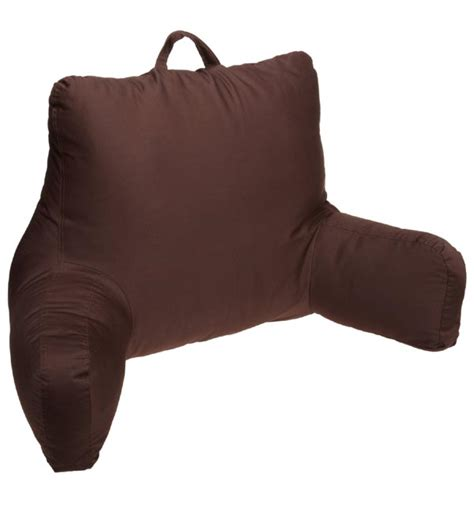 brentwood bed rest pillow brentwood originals brushed twill bedrest in chocolate