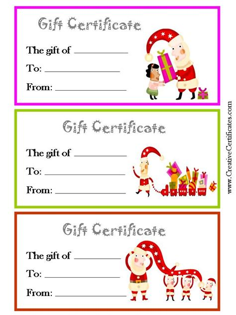 personalized gift certificates template free 1000 images about gift certificate on gift