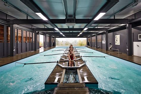 restaurants in boat club road a pool with a stationary boat by mulroy architects