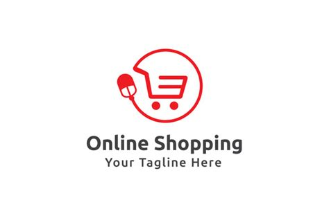 design online marketplace online shopping logo template