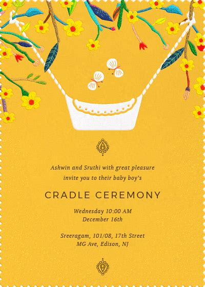 Online Invitation Card Designs Invites Cradle Ceremony Invitation Templates