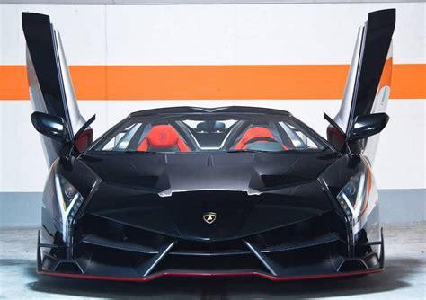 Lamborghini Veneno Front by Lamborghini Veneno Roadster Black Carbon
