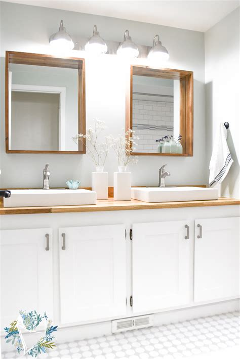 modern farmhouse bathroom modern farmhouse bathroom reveal the weathered fox