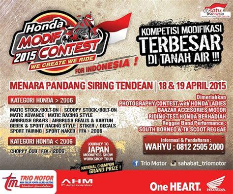 Pcx 2018 Banjarmasin by Honda Modif Contest 2015 Banjarmasin Trio Motor