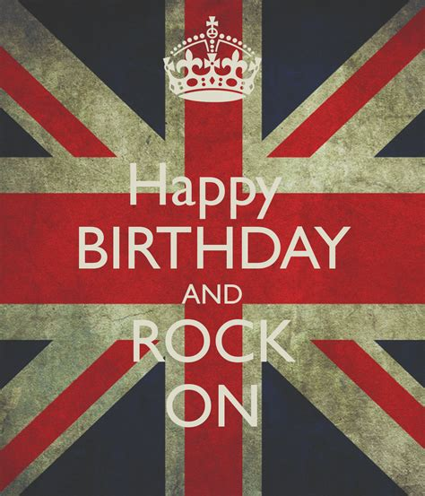 happy birthday images with rock happy birthday and rock on keep calm and carry on image