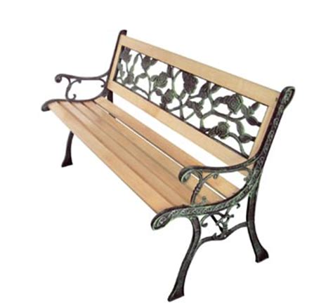 banc de jardin fonte et bois banc en bois