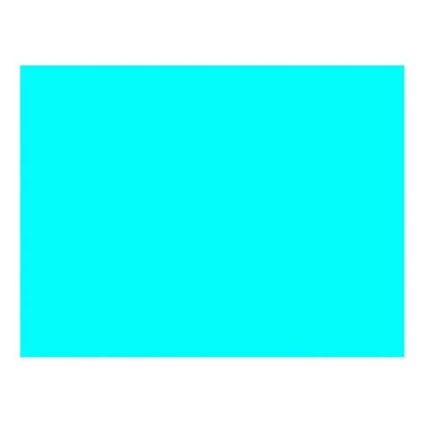 neon aqua blue bright turquoise color trend blank postcard