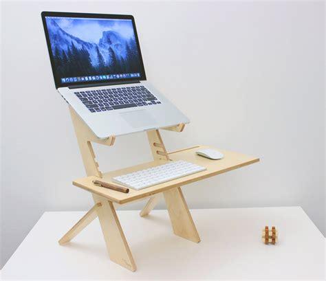 Add A Stylish Wood Laptop Standing Platform To Any Desk Standing Desk Wood
