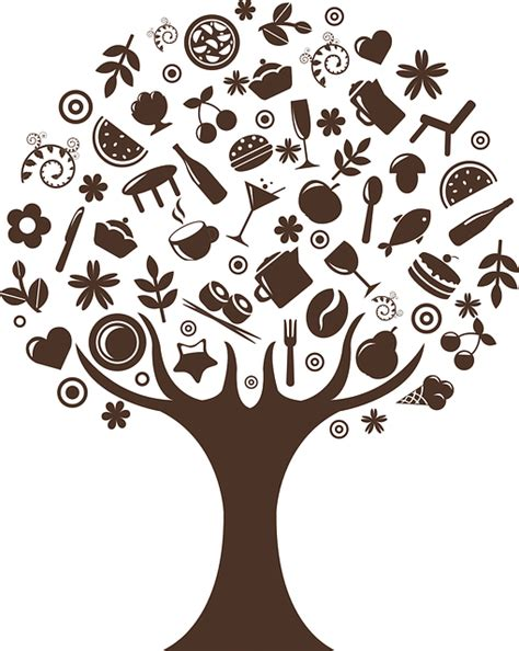 tree symbol free vector graphic tree trunk abstract brown food
