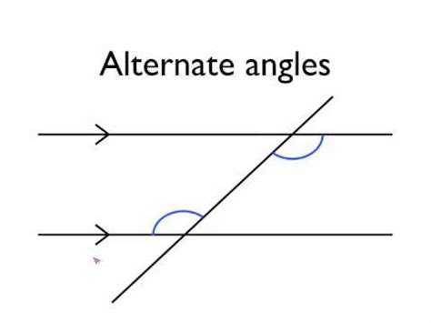 angles in parallel lines alternate angles