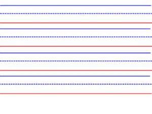 Image result for Handwriting paper blue and red lines handwriting