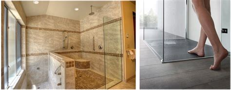 Curbless Shower Construction by Curbless Shower Trend In Bathroom Remodeling