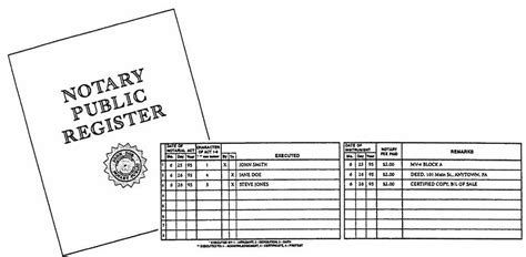 Free Notary Download Log Book Frogtopp Notary Record Book Template