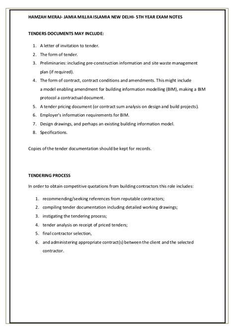 design and build contract sum analysis tendering professional practices jamia millia islamia