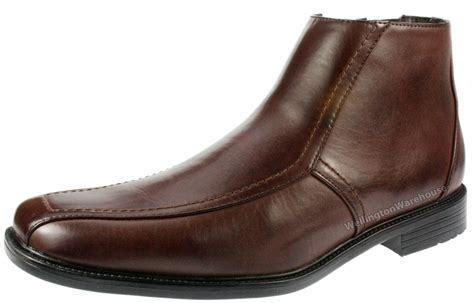 mens zip up chelsea boots us brass mens johnson smart brown faux leather zip up