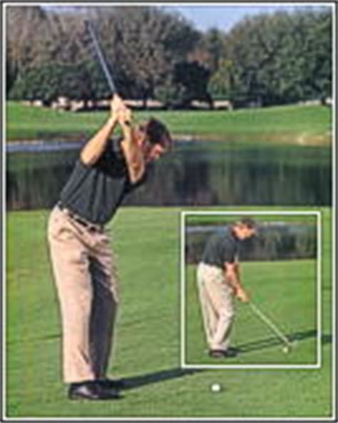 swing too flat peter krause golf tips practicing from angled lies will