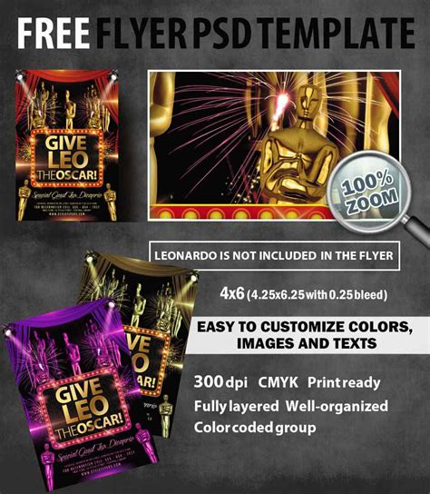 Free Caign Flyer Template Give Leo The Oscar Free Psd Flyer Template Free Download 5628 Styleflyers