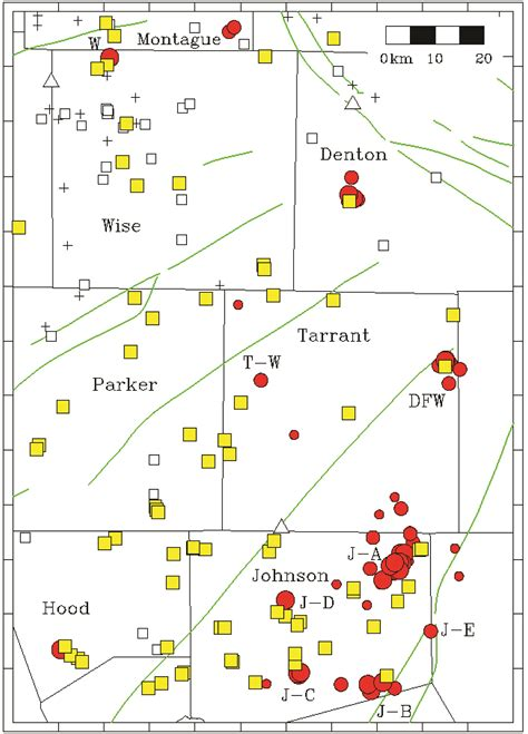 texas earthquake map study finds correlation between injection and small earthquakes jackson school of