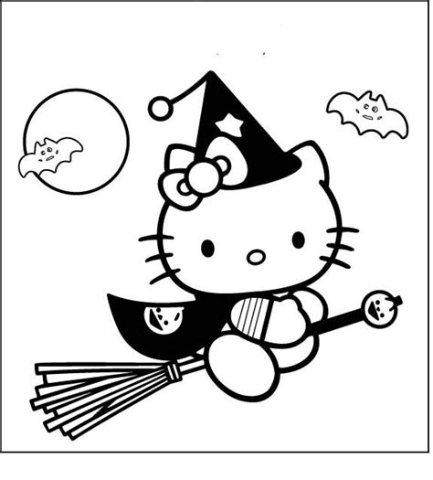 hello kitty witch coloring pages 17 best images about thema heksen on pinterest