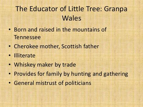 themes in education of little tree the educator of little tree
