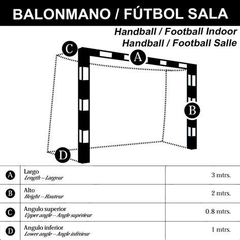 juego redes porter 237 as f 250 tbol sala balonmano basic - Porteria De Futbol Sala Medidas