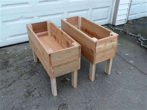 Free Standing Planter Boxes by Standing Cedar Planter Boxes
