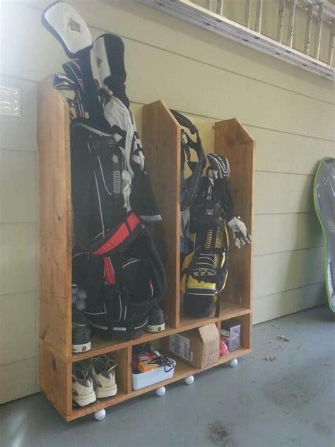 Garage Storage Ideas For Golf Clubs Golf Bag Storage Diy Golf Diy By Www Howardsgolf