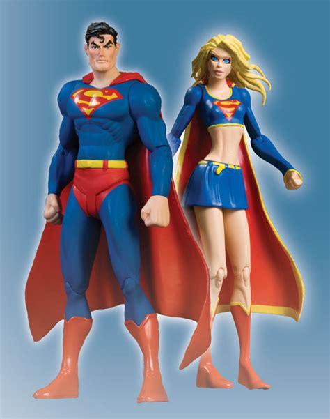 Superman Supergirl Figure Set supergirl figures supergirl of might