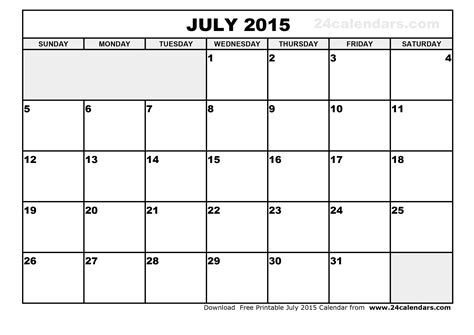 printable calendars july 2015 free printable calendar june july 2015