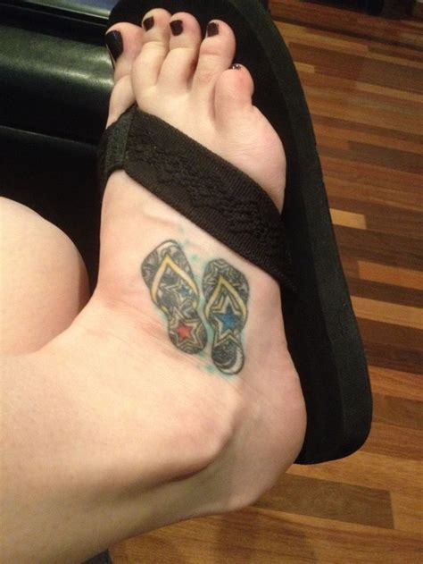 flip flop tattoos my flip flop for my barefoot lifestyle tattoos
