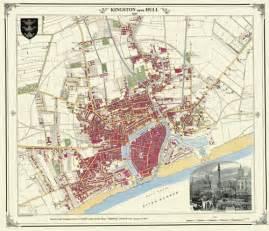 map of kingston upon hull kingston upon hull map 1853 parish chest