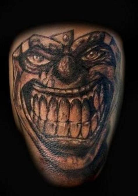 psycho clown tattoo 1990tattoos joker clown tattoos