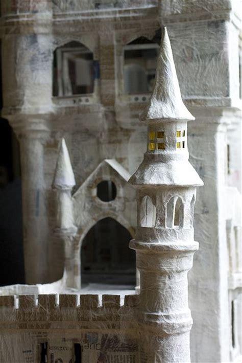 How To Make A Paper Mache Castle - papier mach 233 castle dollhouses minis