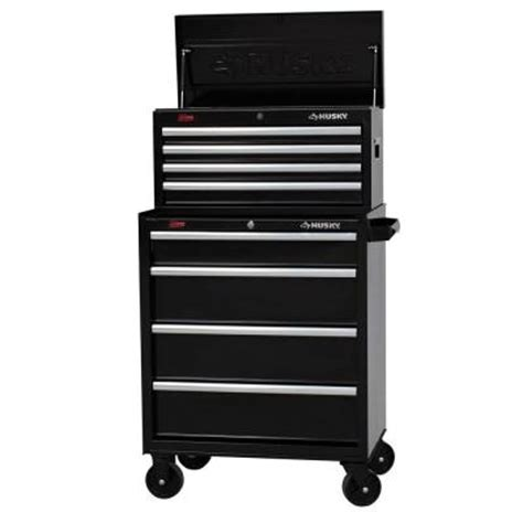 Husky 13 Drawer Tool Box by Husky 27 In W 8 Drawer Tool Chest And Cabinet Set H4ch1