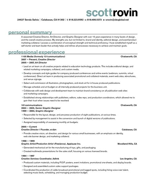 creative graphic designer resume sles for