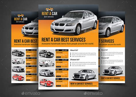 Cool Technology by Rent A Car Flyer Template By Afjamaal Graphicriver