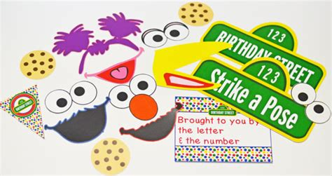 elmo photo booth props printable sale 1 2 off sesame street inspired photo props or