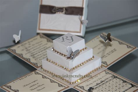 Wedding Invitations In A Box by Home Jinkys Crafts