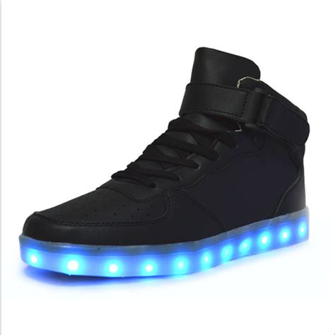 led shoes for high quality 7 colors led luminous high top