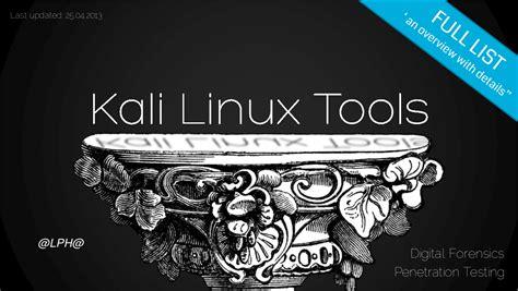kali linux tutorial ebook lph နည ပည kali linux tools list 2013 e book