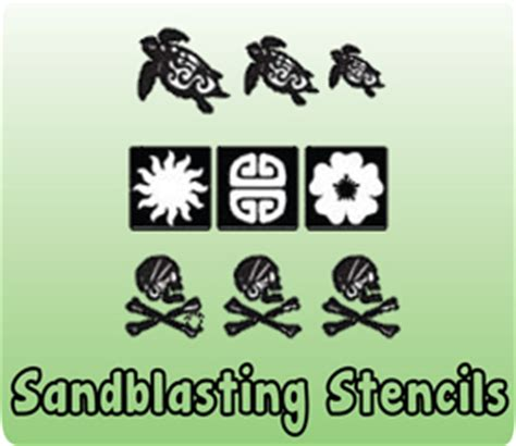 sandblasting stencils sand blasting equipment tools