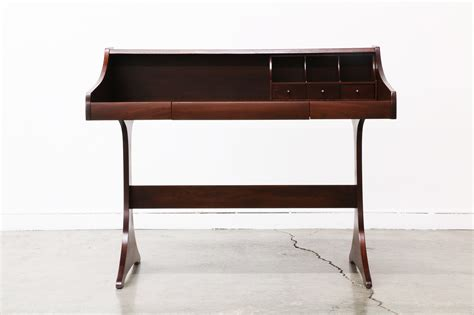 mid century modern walnut desk mid century modern walnut writing desk by kroehler